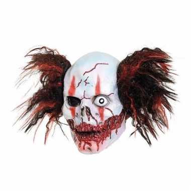 Feestartikelen latex masker creepy clown one eye