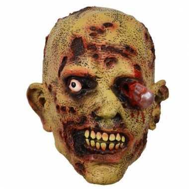 Feestartikelen latex masker zombie bloedend oog