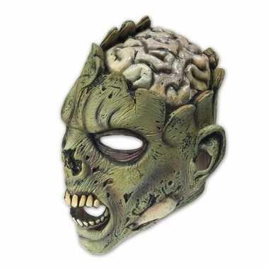 Feestartikelen latex masker zombie brain