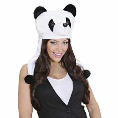 Feestartikelen panda muts voor volwassenen