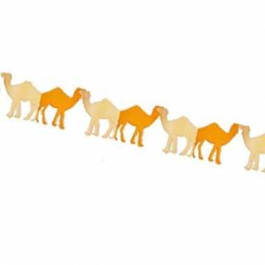 Feestartikelen slinger kamelen 3 m