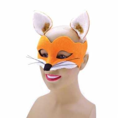 Feestartikelen vossen masker van vilt