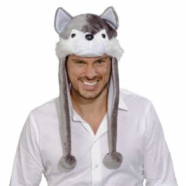 Feestartikelen wolven muts voor volwassenen