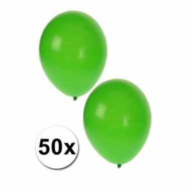 Feestballonnen groen 50 stuks