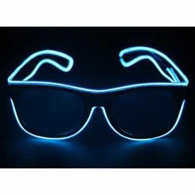 Feestbril met blauwe led verlichting