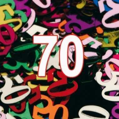 Feestconfetti 70 jaar