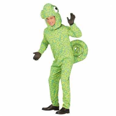 Feestkleding groene kameleon jumpsuit