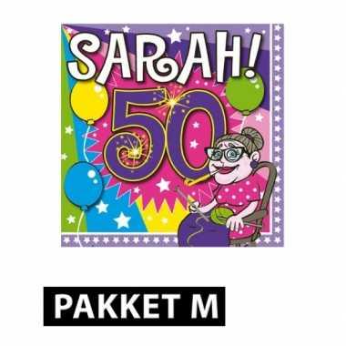 Feestpakket met sarah 50 jaar versiering