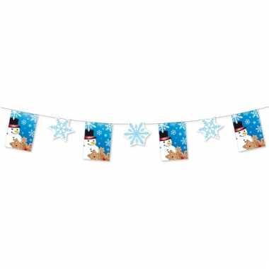 Feestslinger sneeuwvlok 300 cm etalage versiering