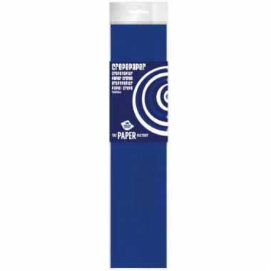 Feestversiering crepe papier blauw