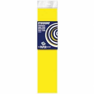Feestversiering crepe papier neon geel