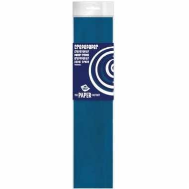 Feestversiering crepepapier blauw