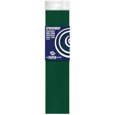 Feestversiering crepepapier groen