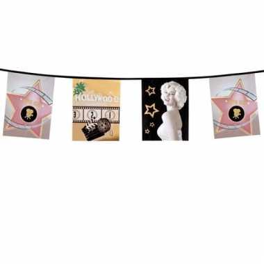 Feestversiering vlaggenlijn hollywood 6 m