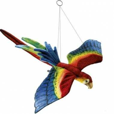 Fel gekleurde pluche papagaai