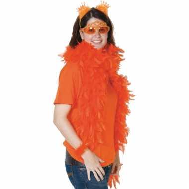Fel oranje feest boa