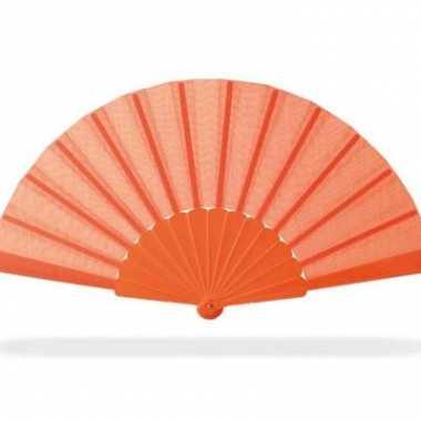 Fel oranje waaier