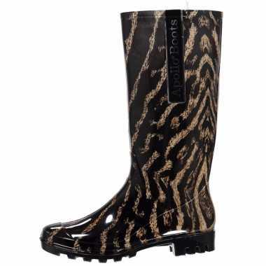 Festival laarzen met panterprint voor dames