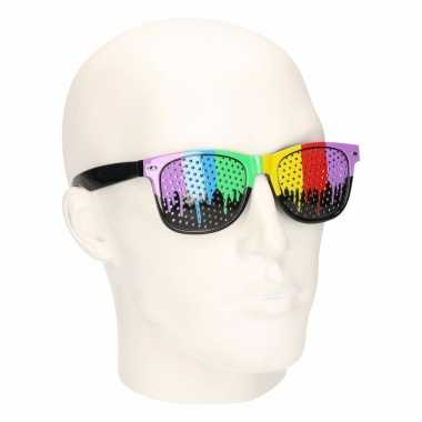 Festival regenboog zonnebrillen