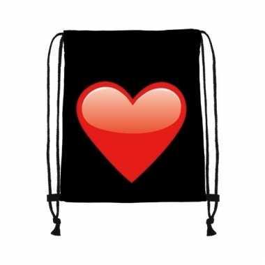 Festival tasje zwart met hart