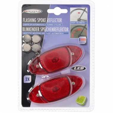 Fiets spaakreflector set led