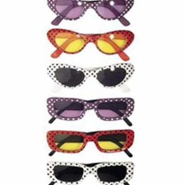 Fifties bril in diverse kleuren