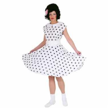 Fifties jurkje met polka dots wit/zwart