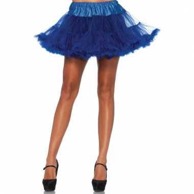 Fifties thema korte petticoat kobalt voor dames