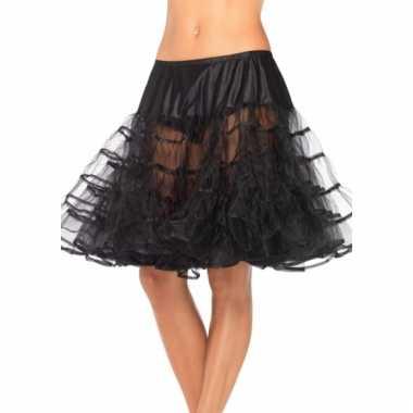 Fifties thema lange petticoat zwart voor dames