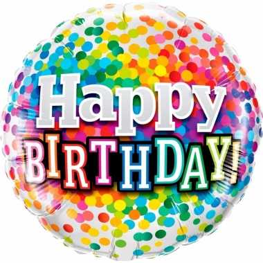 Fijne verjaardag folie ballon gevuld