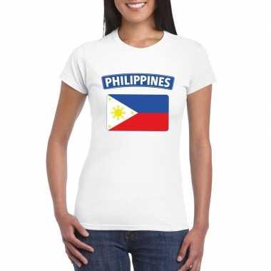Filipijnse vlag shirt wit dames