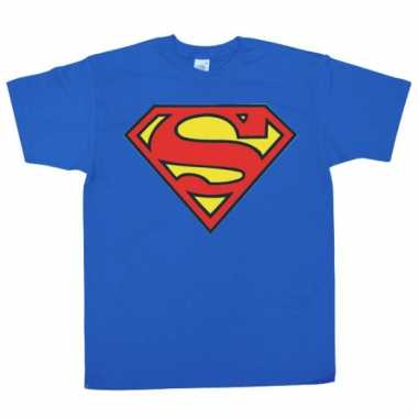 Film shirt superman logo heren