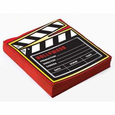 Film thema servetten 16 stuks