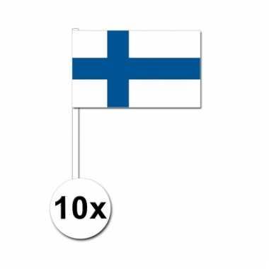 Finland zwaai vlaggetjes 10 stuks
