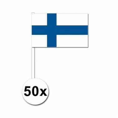 Finland zwaai vlaggetjes 50 stuks