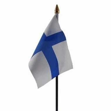 Finse landenvlag op stokje