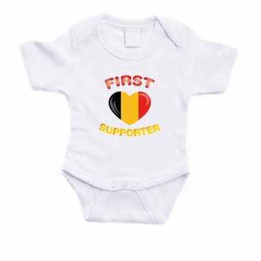 First belgie supporter rompertje baby