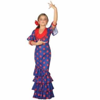 Flamenco danseressen jurk voor meisjes blauw