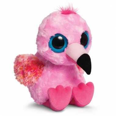 Flamingo knuffeltje 20 cm pinkee yoohoo and friends