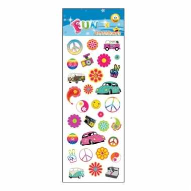 Flower power stickervelletje