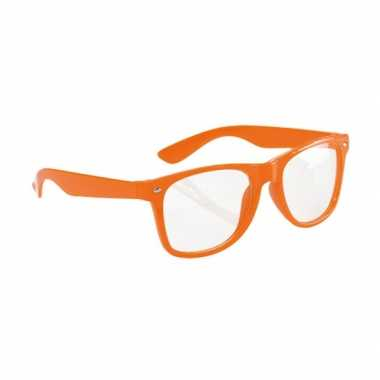 Fluor bril oranje voor volwassenen