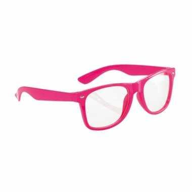Fluor bril roze voor volwassenen