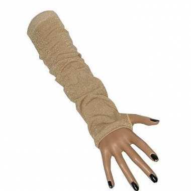 Fluwelen look lange handschoenen