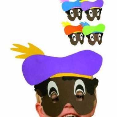 Foam masker zwarte piet voor kids