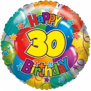 Folie ballon 30 jaar 35 cm