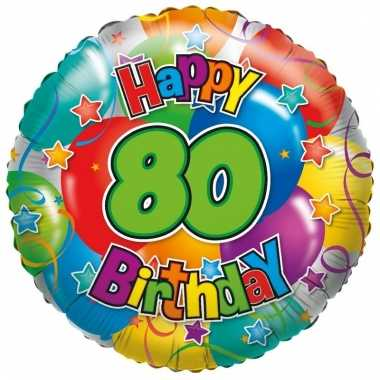 Folie ballon 80 jaar 35 cm