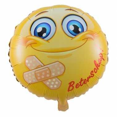 Folie ballon beterschap emoticon 45 cm