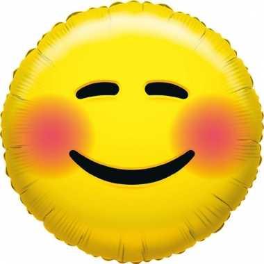Folie ballon bloos smiley 35 cm