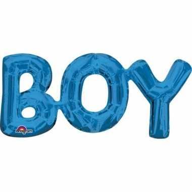 Folie ballon boy blauw 55 cm