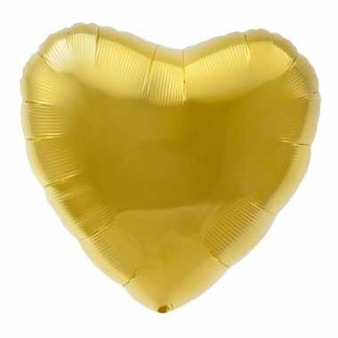 Folie ballon goud hart 45 cm